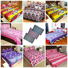 Homefab India Combo - 6 Cotton Double Bed Sheets + 2 Single Bed Sheets + 3 Mats