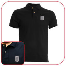 POLO T-SHIRT BMW MASK BLACK RICAMO EMBROIDERY PATCH