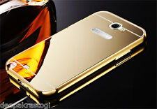Luxury Aluminium Bumper With Mirror Acrylic Back Cover For Samsung Galaxy NOTE 2