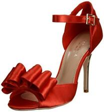 RRP £95 BN CARVELA KURT GEIGER SIZE 3 6 RED SATIN CORSAGE SPECIAL OCCASION SHOES