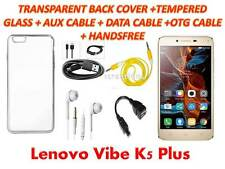 LENOVO VIBE K5 PLUS TRANSPARENT COVER TEMPERED GLASS DATA,OTG CABLE,HANDS FREE
