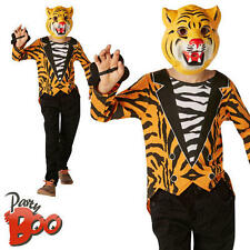Kids Mr Tiger Fancy Dress Childs Tiger Who Came To Tea Book Week Boys Costume