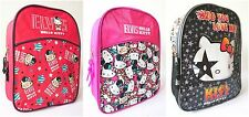 KIDS CHILDRENS GIRLS HELLO KITTY BACKPACK ELVIS KISS SCHOOL BAG BAGS RUCKSACK