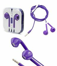 Earphones EarPods and Mic Handsfree Headphones for Apple iPhone 5,5S & 6S-PURPLE