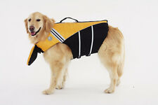 Dog Life Jacket With Chin Float Larger Sizes Yellow Sierra Dog Supply Unisex
