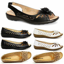 NEW WOMENS FLAT GIRLS PEEP TOE BALLERINA DOLLY CUSHIONED COMFORATABLE SHOES SIZE
