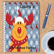 A5 & A4 PERSONALISED NOTEBOOKS, NOTE BOOK, NOTE PAD, 50 LINED OR BLANK /XMAS2