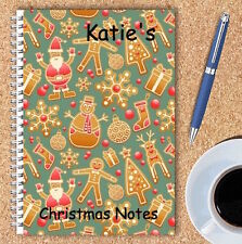 A5 & A4 PERSONALISED NOTEBOOKS, NOTE BOOK, NOTE PAD, 50 LINED OR BLANK /XMAS3