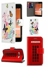 Butterfly Telephone Booth Flip Leather Wallet Case for Various Mobile phones