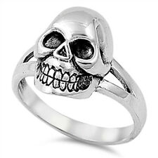 Men Skull Ring, 925 Sterling Silver, Gothic Trendy Style, w/ FREE Gift Box, Cool