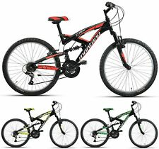 "24"" ZOLL FULLY MOUNTAINBIKE JUNGEN KINDERRAD MONTANA CRX FULL SUSPENSION 18 GANG"