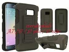 Heavy Duty Armor Rugged Phone Case Kickstand Clip Holster for New Samsung Galaxy