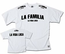 "VIDA LOCA COUTURE  ""LA FAMILIA FIGHT"" FITTED SHIRT LA FAMILIA LA VIDA LOCA WHITE"