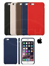 Apple iPhone 6S (4.7 inch) - Leather Hard Back Case Cover with Screen Protector