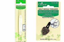 Clover Double Ended Needle Threader CL462/NV or Quilt Yarn Threader CL 466
