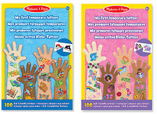 100 Melissa and Doug Infantil My First Amistoso Tatuajes Temporales para