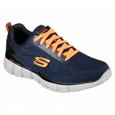 Skechers EQUALIZER - SETTLE THE SCORE Mens Sports Fitness Trainers Navy/Orange