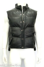 Mens Puffer Winter Warm Fashion Designer Classic Leather Sleeveless  Waistcoat