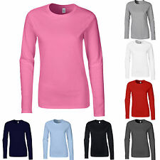 Gildan Softstyle Ladies Long Sleeve T-Shirt Frauen Dame langarm S M L XL XXL (B)