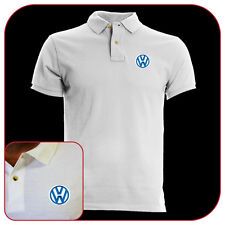 POLO T-SHIRT VOLKSWAGEN BADGE WHITE RICAMO EMBROIDERY PATCH