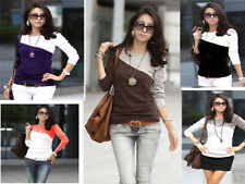 New Womens Casual long Sleeve Top Ladies T Shirt holiday top -3619