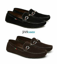 JAS Uomo Camoscio Sintetico Casual Mocassini scarpe Slip-on UK 6 7 8 9 10 11 12