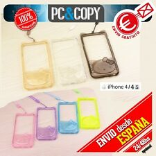 Bumper funda gel TPU flexible transparente para iPhone 4/4S Hello Kitty colores