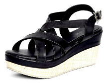 Marc Loire Women Black  Tamiya Wedge Sandal