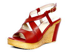 Marc Loire Women Maroon Kestrel Wedge Sandal