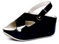 Marc Loire Women Black Sharee Wedge Sandal