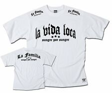 "VIDA LOCA COUTURE  ""LA VIDA LOCA FIGHT"" FITTED SHIRT LA FAMILIA  WHITE"