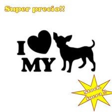PEGATINA VINILO I LOVE MY CHIHUAHUA STICKER DECAL OUTLET VINILO