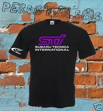 T-SHIRT STI SUBARU WORLD RALLY TEAM STI TUNING CAR T1173