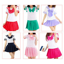 Japanese School Uniform Dress Cosplay Costume Anime Girl Lady Lolita FK