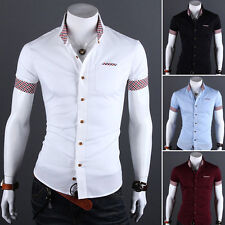 Sommer Herren Kurzarm Polo T shirt Polohemd Slim Fit Freizeithemd Business Shirt