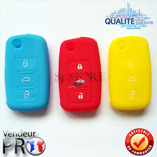 ETUI COQUE HOUSSE SILICONE CLE VW GOLF 4 PASSAT POLO BEETLE JETTA BORA 3 BOUTONS
