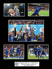 Leicester City FC Premier League Champions 2016 Mounted Photo Compilation Gift