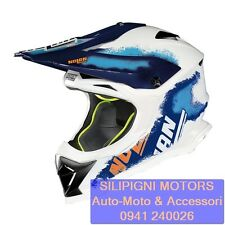 NOLAN N53 LAZY BOY 24 METAL WHITE Cross Enduro Off Road Casco Integrale