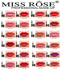 Professional Make Up Lipstick Miss Rose 24 colors Long Lasting Lip Stick