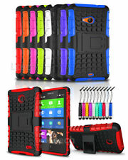 Nokia Lumia 735 Antichoque Resistente Carcasa funda con base & Mini Pluma