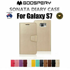 Genuine MERCURY Goospery Leather Flip Case Wallet Cover For Samsung Galaxy S7