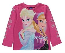 DISNEY FROZEN ANNA & ELSA LONG SLEEVE T SHIRT/TOP 3-4YRS. - New