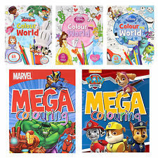 Disney / Character Children's Colour My World Activity / Mega Colouring Book