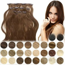 Clip In Extensions Clip On 3 Haarteile 40 cm 45 cm 60 cm Indisches Remy Echthaar