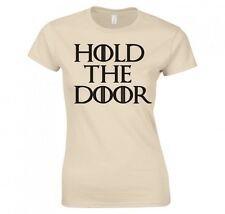 "GAME OF THRONES ""HODOR, HOLD THE DOOR"" LADIES SKINNY FIT T-SHIRT"
