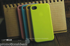 buy2./ Shiny Silicon Soft Back Cover Case For Apple iPhone 4 4G 4S