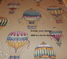 New Handmade Lampshade SMD ILiv Scandi Hot Air Balloons Cobalt Fabric 30cm drum