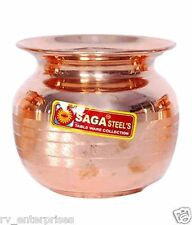 Saga Copper Pooja Lota Kalash Size No  7 & 8
