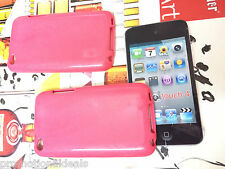 buy2./ Pink Shiny Silicon Soft Back Cover Case For Apple iPod Touch 4 4G
