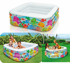 "Intex Swim Center Clearview Aquarium Inflatable Pool 62.5″ & 60"" Kids Summer Fun"
